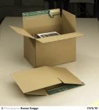 Fix-Aufrichtkarton stabile Wellpappe, braun A4+ 336 x 227 x 95-200 mm 10 Stück