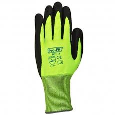 NFT Cut 5 Schnittschutz-Handschuhe Neon Green schnitthemmend  12 Stück im Pack