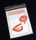 Dentalbeutel weiß eingefärbt Schöne Zähne schönes Lächeln LDPE 50 my 180 x 250 + 230 mm  1000 Stück