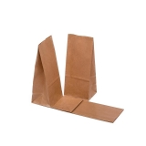 Papiertragetaschen ohne Henkel mit Boden 100x70x260 mm  glatt   70 g/m²  1000   Stück   braun