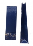 Blockbodenbeutel blau OOP-Folie 70 x 40 x 205 mm    gebleicht Kraft 80g/m² / innen - Folie PET  1000 Stück
