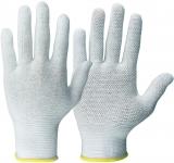 Rundgestrickte-Baumwollhandschuhe + Micro-Noppen  12 Paar  Größe 8 oder 10